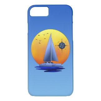 Catamaran Sailboat And Compass Rose iPhone 7 Case