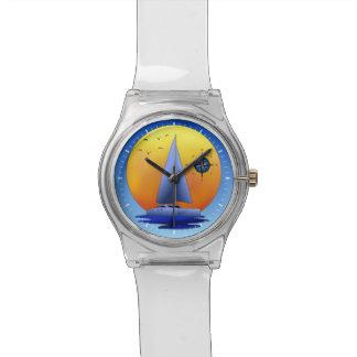 Catamaran Sailboat And Compass Rose Watch