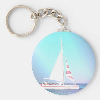 Catamaran Sailboat Keychain