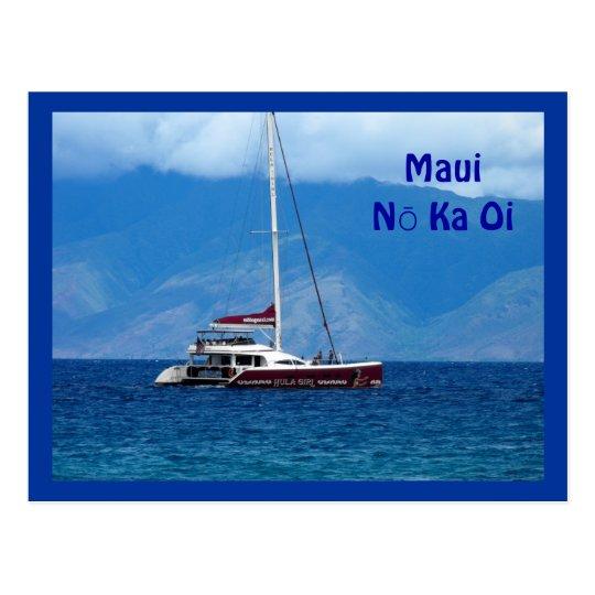 Catamaran Sailboat, Maui Hawaii Postcard