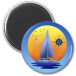 Catamaran Sailing 2 Inch Round Magnet