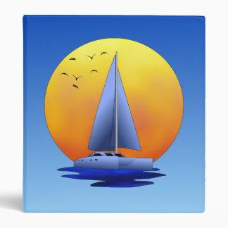 Catamaran Sailing 3 Ring Binder
