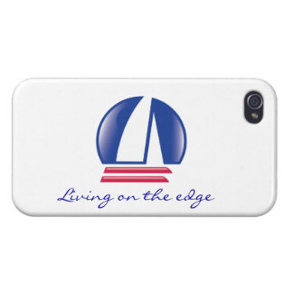 Catamaran Sailing_Blue Moon_Living on the edge 2 Cover For iPhone 4