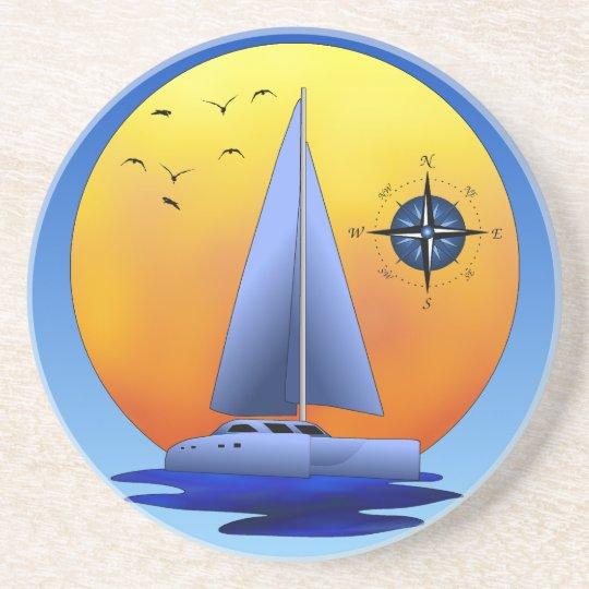 Catamaran Sailing Drink Coaster