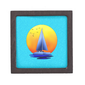 Catamaran Sailing Keepsake Box