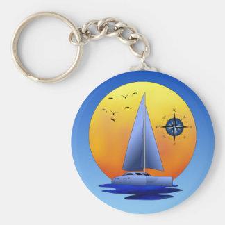 Catamaran Sailing Key Chains