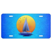 Catamaran Sailing License Plate