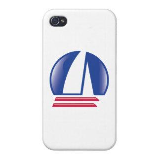 Catamaran Sailing_Pontoon Racing_Blue Moon_white iPhone 4/4S Cover