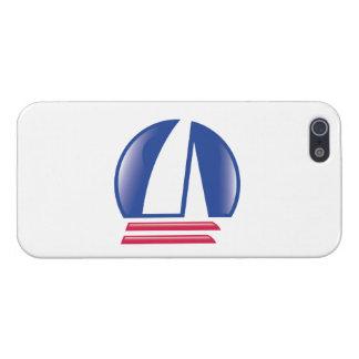 Catamaran Sailing_Pontoon Racing_Blue Moon_white iPhone SE/5/5s Case