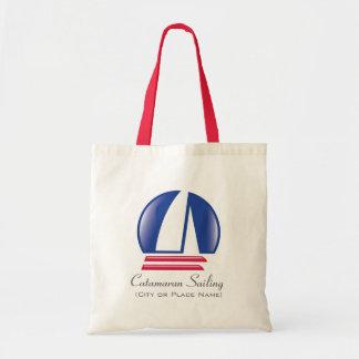 Catamaran Sailing_Pontoon Racing_BlueMoon template Tote Bag