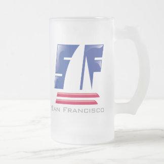 Catamaran Sailing_Pontoon Racing_San Francisco Frosted Glass Beer Mug