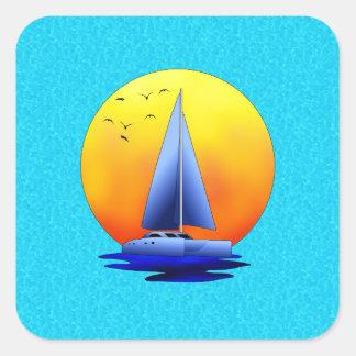 Catamaran Sailing Sticker
