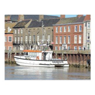 Catamaran Workboat Genesis Postcard
