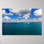 Catamaranes en el mar del Caribe Posters