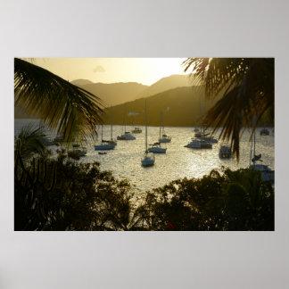 Catamaranes y veleros póster