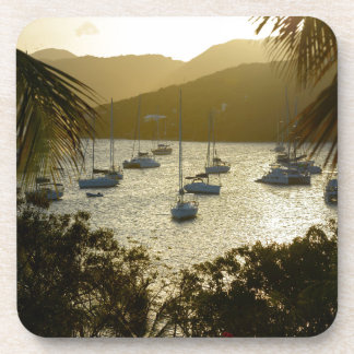 Catamarans and sailboats beverage coaster