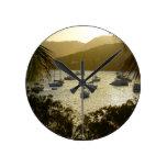Catamarans and sailboats wall clocks
