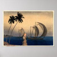 Catamarans in a Twilight Breeze Poster
