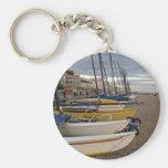 Catamarans On The Beach Key Chains