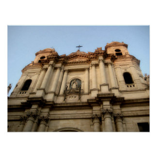 Catania Italy Cathedral Photographs Poster