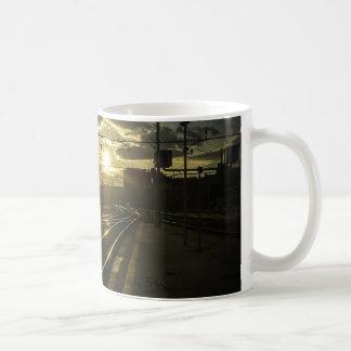 Catania railways at sunset coffee mug