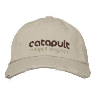 Catapult Distressed Chino Twill Cap Embroidered Hat