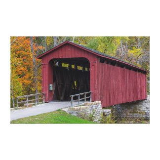 Cataract Covered Bridge over Mill Creek Canvas Print