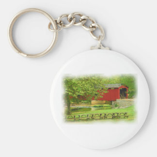 Cataract Falls Covered Bridge Keychain