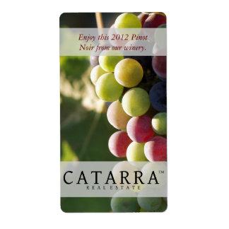 Catarra Verticle Wine Label