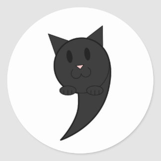 Catastrophe (black) - classic round sticker