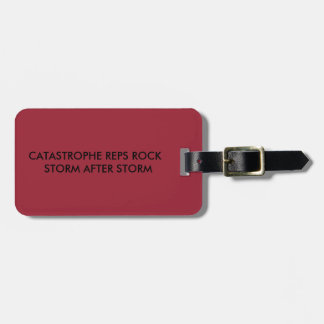 CATASTROPHE REPS ROCK LUGGAGE TAG