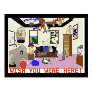 Catastrophe (Wish You Were Here) Postcard