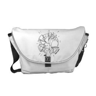Catatomic Reaction (Partial Color) Messenger Bag