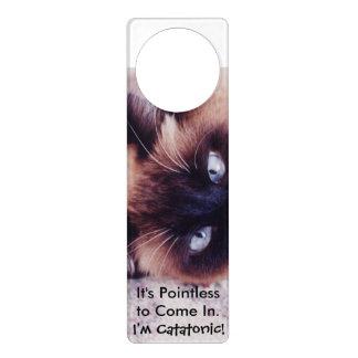 Catatonic Cat Door Knob Hangers