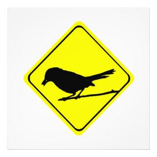 Catbird Bird Silhouette Caution or Crossing Sign Art Photo