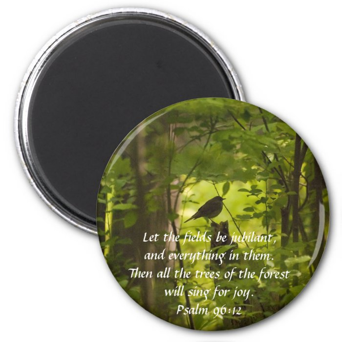 Catbird in the Forest Green 2 Inch Round Magnet