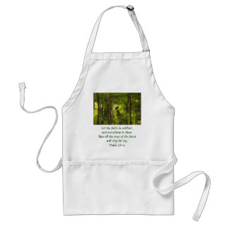 Catbird in the Forest Green Adult Apron