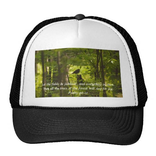 Catbird in the Forest Green Mesh Hat