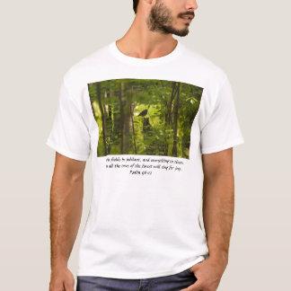 Catbird in the Forest Green T-Shirt