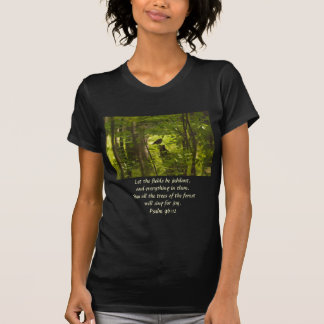 Catbird in the Forest Green Tees