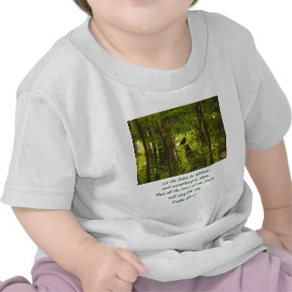 Catbird in the Forest Green Tee Shirts