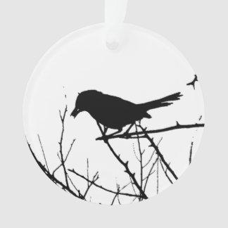 Catbird Silhouette Love Bird Watching Ornament