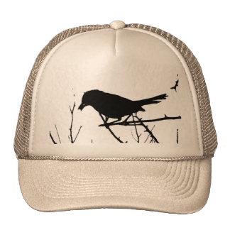 Catbird Silhouette Love Bird Watching Trucker Hat