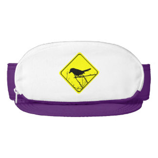 Catbird Warning Sign Love Bird Watching Visor