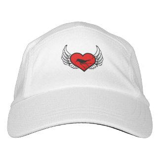 Catbirds del ángel, corazón con alas silueta de gorras de alto rendimiento