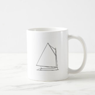 Catboat Sailing Logo (sail plan) Classic White Coffee Mug
