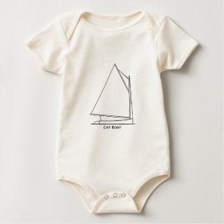 Catboat Sailing Logo (sail plan titled) Baby Bodysuit
