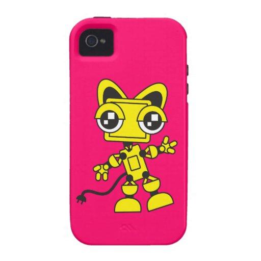 Catbot amarillo iPhone 4/4S carcasas