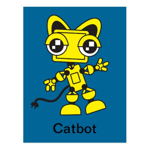 Catbot amarillo postal