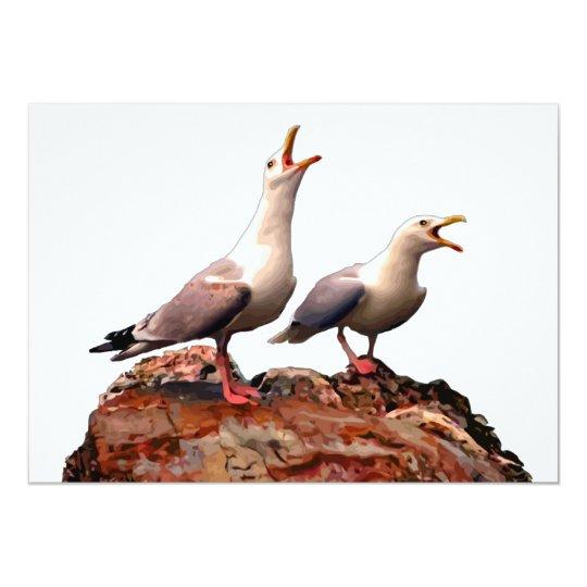 Catcalling Gulls Card
